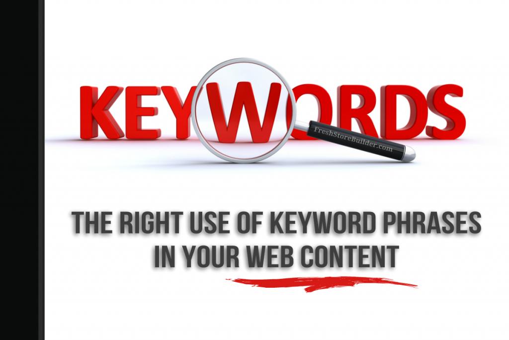 Keyword Phrases - FreshStoreBuilder.com